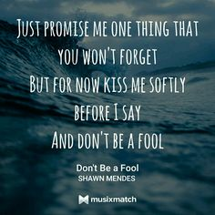 Don't Be A Fool - Shawn Mendes