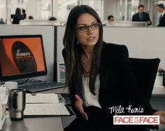 "Hollywood hottie Mila Kunis is the epitome of Geek Chic in her role as Lori Collins in the movie ""Ted"". Those dark brown Face A Face frames really compliment her look!    #SexySaturday #FaceAFace #Celebrity #MilaKunis #GeekChic #Sarabia #SarabiaOptical #Fashion #Eyeglasses #Sunglasses #Sunnies #Eyewear #Hollywood  *Photo via luxuryeyesite.com"