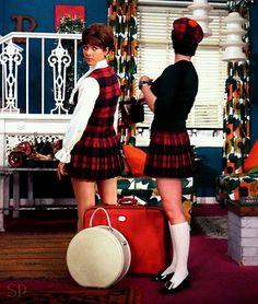 Linda Thorson in The Curious Case of the two Taras in tartan - Avengers fanpic by S. Tara King, Avengers Girl, Emma Peel, School Girl Dress, Vintage Tv, Fashion Tv, Woman Crush, Traditional Dresses, Girls Dresses