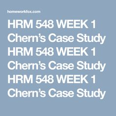 cherns case study