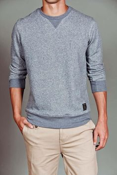 Marled French Terry Crewneck--- I really want this for myself =)