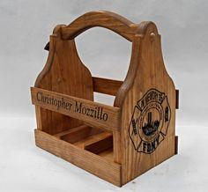 Custom logo Beer Tote Beer Carrier Personalized by MVwoodworks, $68.99