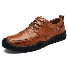 Men Cow Leather Large Size Soft Casual Driving Shoes - NewChic Mobile