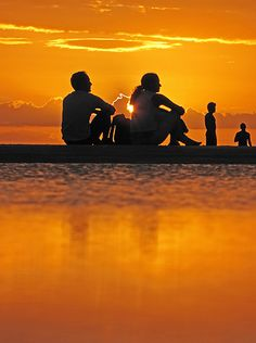 Sunset in Jericoacoara (Brazil)