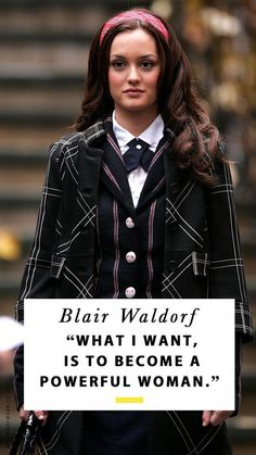 Blair Waldorf Quotes That Prove She's Still the Life Coach We All Need Gossip Girl's Blair Waldorf wasn't just the owner of epic outfits, she also possessed wisdom beyond her years. Cue the best Blair Waldorf quotes ever. Gossip Girl Blair, Gossip Girls, Moda Gossip Girl, Blair Waldorf Gossip Girl, Gossip Girl Quotes, Gossip Girl Outfits, Gossip Girl Fashion, Blair Waldorf Stil, Blair Waldorf Aesthetic