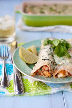 shrimp enchiladas with roasted poblano sauce by annieseats, via Flickr