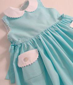 Turquoise stripe sleeveless dress