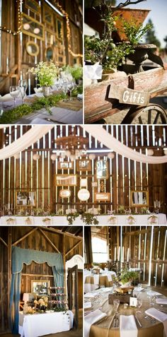 Lavender and Ash: Barn Wedding Decor The mirrors are a great and simple design element!