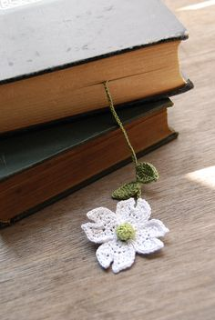 Handmade Crochet Flower Bookmark Dogwood Flower