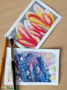 A korallok különleges formái inspirációként szolgálhatnak a képzőművészetben. Ezen akvarell képek alapjait a vízi élővilágból nyertem és absztraktabb módon dolgoztam át. Igyekeztem egyfajta fantáziadús világot megteremteni. A színek nyárias hangulatot idéznek, ezáltal tökéletesen feldobják az otthonunkat!  A képeket akvarellpapírra készítettem akvarelltechnikával és tussal átdolgozva. Egy kép mérete 10 x 15 cm. Lehet őket együtt ill. külön is rendelni. Photo And Video, Diy, Instagram, Do It Yourself, Bricolage, Handyman Projects, Diys, Crafting