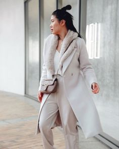 We love Cheryl in our Eve Maxi Coat. Luxurious and chic, this coat is a true remedy for winter blues. Style with neutral basics for a sophisticated ensemble. Maxi Coat, Cheryl, Eve, Duster Coat, Blues, Neutral, Chic, Winter, Jackets