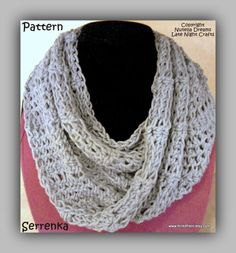 SERRENKA Moebius Cowl for the Ladies - Free Spirited Airy Crochet Pattern Perfect for Warmer Months. $4.99, via Etsy.