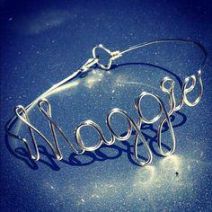 Silver Wire Wrapped Name Bracelets Personalized Custom Bracelets Word Bracelets