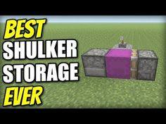 Minecraft - BEST SHULKER STORAGE EVER - Redstone Tutorial - Xbox / PS4 / PS3 / Switch - YouTube