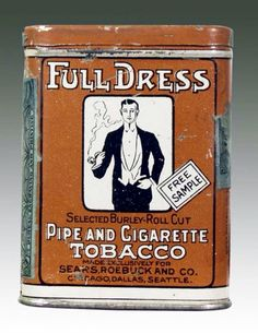Full Dress Pipe and Cigarette Tobacco Free Sample Sears, Roebuck and Company