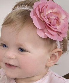 Loving this Pink Rose Headband on #zulily! #zulilyfinds