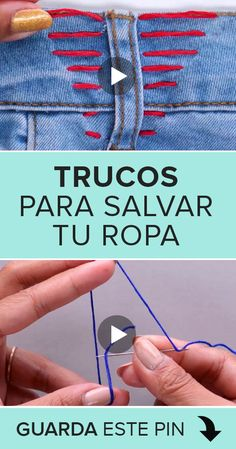 Sewing Hacks, Sewing Tutorials, Collar Macrame, Hand Embroidery Videos, Darning, Tricks, Ideas Para, Life Hacks, Casual Outfits