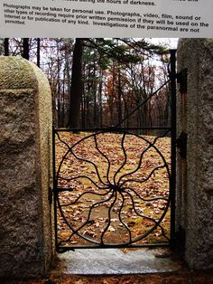 """""""Spider Gates"""" Friends/Quaker Cemetery in Worcester, MA. Worcester Massachusetts, All Things New, Lovers And Friends, Haunted Places, Leicester, Paranormal, Cemetery, New England, Creepy"""