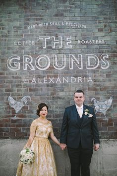 Vintage Gold Lace Wedding | Chasing Brightness Photography on @polkadotbride via @aislesociety