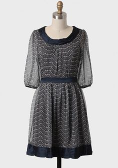 Victorian Rendezvous Patterned Dress 44.99 at shopruche.com. Perfected with a beautiful lace pattern, this darling dress features navy ruched detailing at the collar, waistline, and hemline. Finished with sheer sleeves, a self-tie waist, and a hidden back zipper closure. Fully lined.100% Polyester,...