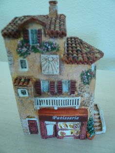 J CARLTON BY GAULT HAND PAINTED FRENCH MINIATURE PATISSERIE BUILDING