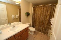 Condo 423-Modern Bathroom-Whispering Pines! #RPMCondos #WhisperingPines #PigeonForge #Vacation #Family