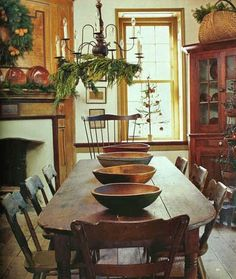 Early American Colonial Interiors | PRIMITIVE Colonial Decor