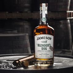 Jameson's The Blender's Dog Irish Whiskey Reaches the US: It's butterscotch notes all the way in this second release from the brand's Whiskey Makers Series Read the full article on Cool Hunting Jameson Distillery, Alcoholic Drinks, Beverages, Jameson Irish Whiskey, Lucky Day, Whisky, Whiskey Bottle, Dogs, Lifestyle Fashion