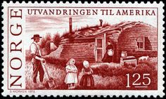 Norway 1kr25ø 1975 - Migration to the U.S.