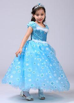 3d9c79eafdb 2018 nouveau été enfants Elsa robe pour filles princesse Elsa Costume coton  longue robe de bal