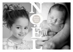 Perfect card for 2 photos of your family or one photo which can be covered in the middle with Noel.