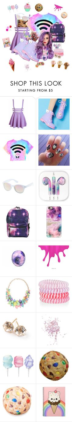 """•Pastel•"" by teenratedvonnie ❤ liked on Polyvore featuring DripDrop, Charlotte Russe, Lime Crime, Casetify, Eos, Accessorize, Ippolita, Topshop, Cotton Candy and Iscream"