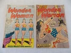 Wonder Woman 62 92  Vintage Comic Book Silver Age LOT of 2