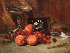 View Still cherry, apricot and tobacco - By Theodor Aman; oil on canvas; Access more artwork lots and estimated & realized auction prices on MutualArt. Best Artist, Still Life, Oil On Canvas, Cherry, Artwork, Blog, Paintings, Wine Cellars, Illustrations