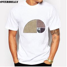 abfb710d Click to Buy << Distressed Geometric Fibonacci Spiral printed Shirts  Short-sleeve tee Custom Design Mens Design T-Shirt 6 colors available  #Affiliate