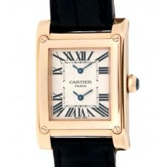 CARTIER TANK AVIS W1537651 DUAL TIME ZONE IN 18KT ROSE GOLD Cartier Tank, New Rolex, Time Zones, Rose Gold, Watches, Accessories, Clocks, Clock, Ornament