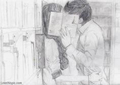 Couple Sketch on Pinterest | Sketches Of Couples, Couple Drawings ...