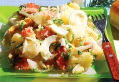 Góbéhami: Erdélyi krumplisaláta Potato Salad, Potatoes, Ethnic Recipes, Food, Potato, Essen, Yemek, Meals