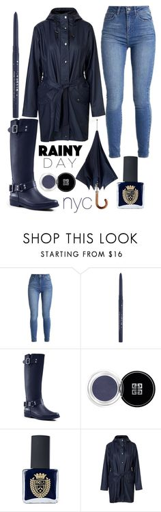 """""""rainy day in new york"""" by j-n-a ❤ liked on Polyvore featuring Stila, Lands' End, Givenchy, ncLA, mbyM, Newyork, NYC and rainyday"""