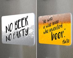 #fridgemagnets #magnets BEER Double Sided Fridge Reminder Magnet. Funny Quotes Remind You Too Fill Beer Supplies. by BetterMagnets