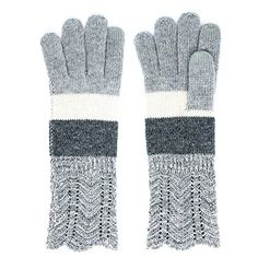 Me Plus Womens Texting Touchscreen Winter Warm Cozy Wool Wavy Trim Smart Gloves One Size Grey >>> Continue to the product at the image link. (This is an affiliate link)