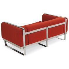 Milo Baughman; Chromed Steel Sofa for Thayer Coggin, 1970s.