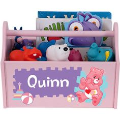 Personalized Care Bears Let S Play Pink Toy Caddy