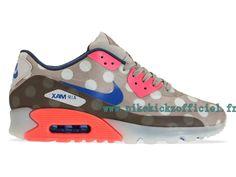 Site Nike Air Max 90 ICE - Chaussures Nike Pas Cher Pour Homme Brun//Bleu/Orange 667635-001-Boutique Nike 2015,Les Distributeurs en Gros en France