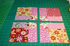 disapearing four patch quilt | You can arrange your blocks any way you want. Oh, the possibilities!