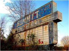 Abandoned Drive-In Movie Theatre -- an almost completely lost form of entertainment.