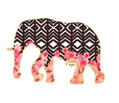 Cute in the bathroom! Elephant Animal Print No One by ParimaCreativeStudio on Etsy, $17.00