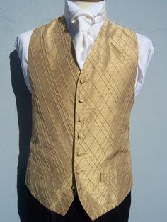 MENS BOYS DESIGNER GOLD SILK WEDDING DRESS SUIT WAISTCOAT 34 36 38 40 42 44 46 | eBay