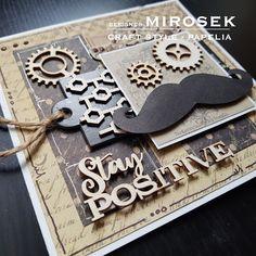 Kartka okolicznościowa dla mężczyzny - recykling | PAPELIA - Blog Cardmaking, Diy And Crafts, Blog, Design, Blogging, Card Making