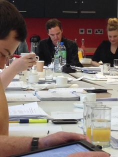 So excited for this! Such a year this will be ☺****EDIT: Sorry! To clarify it's a pic of the table reading for the radio play of Neil Gaiman's Neverwhere.